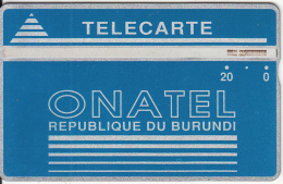 BURUNDI - Onatel Logo, Blue 20 Units, CN : 406A, Tirage 30000, Used - Burundi