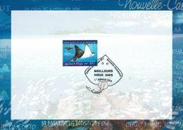 2005 - Nouvelle Calédonie - Carte De Vœux De La Poste - Obl Du 1er Janvier 2005 Sur  Tp N°915 - Dienstpost