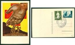 Croatia NDH 1942 FDC Commemorative Cancel Card Red Cross - Croatia