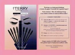 Cartes Parfumées Carte MAKE UP  BY TERRY DE GUNZBURG   14.5 Cm X 10.5 Cm - Cartes Parfumées