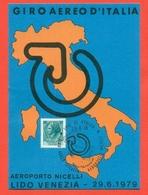 GIRO AEREO D'ITALIA-AEROPORTO NICELLI - LIDO VENEZIA - MARCOFILIA - AEREI - Riunioni