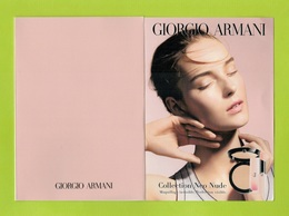 Cartes Parfumées Carte GIORGIO ARMANI MAKE UP  14.5 Cm X 10.5 Cm TRIPLE RECTO VERSO - Cartes Parfumées
