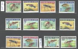 """REPUBLIQUE DE GUINEE 1964 """"FISHES"""" ##315-324 + #C54-55 MNH - Guinea (1958-...)"""