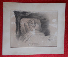 1840 RRRARE Litho Corps Du Baron Nicolo Paganini Violoniste Embaumé à Nice Par Procédé Gannal Embalming (IFT) - Historische Dokumente