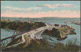 The Bridge And Falls, St John, New Brunswick, C.1910 - Valentine's Postcard - St. John