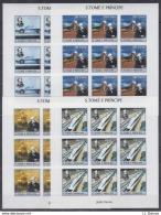 B82. 9x S Tome E Principe - MNH - Famous People - Jules Verne - 2004 - Full Sheet - Imperf - Célébrités