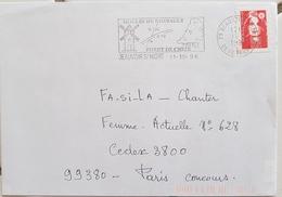 FRANCE Moulins, Moulin, Mill, Molino, Flamme Illustrée BEAUVOIR S/ NIORT Le Moulin De RIMBAULT. 1996 - Windmills