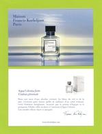 Cartes Parfumées Carte  MAISON FRANCIS KURKDJIAN  RECTO VERSO   15 Cm X 10 Cm - Modern (from 1961)
