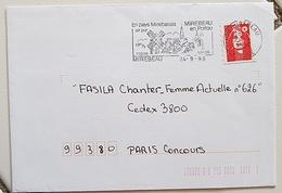 FRANCE Moulins, Moulin, Mill, Molino, Flamme Illustrée MIREBEAU En Poitou 1996 - Windmills