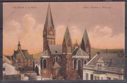 Germany Reich 1917/ Circulated Postcard / NEHEIM AN DER RUHR , KIRCHE UND RATHAUS - Stamps