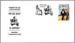 EL CARTERO - THE POSTMAN - Moto. SPD/FDC Madrid 2005 - Correo Postal