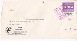 CASA TODESCA, ENVELOPE CIRCULEE LA PLATA-PRIVATE MAIL OCA YEAR 1995-ARGENTINE- BLEUP - Argentina