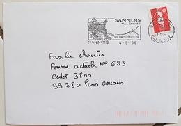 FRANCE Moulins, Moulin, Mill, Molino, Flamme Illustrée SANNOIS 1996 - Windmills