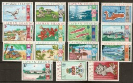Cayman Islands  1969     SG 224-36  Mounted Mint  Set - Kaaiman Eilanden