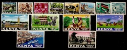 Kenya  1963  SG 1-14  Set To 20/-d   Mounted Mint - Kenya (1963-...)