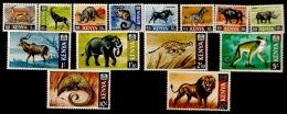 Kenya  1966  SG 20-35   Set To 20/-d  Excluding 70c, Mounted Mint - Kenya (1963-...)