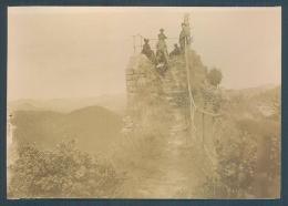 57 FALKENSTEIN Près De Philippsbourg  1898? Photo Originale 7.5 X 10.5 Cm Collée Sur Papier - Lieux