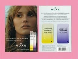 Cartes Parfumées Carte à PATCH NUXE LE MATIN Et LE SOIR DES POSSIBLES 15 Cm X 10.5 Cm - Cartes Parfumées