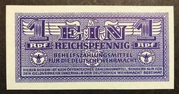 GERMANIA ALEMANIA GERMANY  Wehrmacht  1 Reichspfennig 1942 Wehrmacht Auxiliary Payment Certificate FdsLOTTO 1950 - [ 4] 1933-1945 : Terzo  Reich