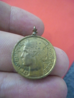 Pendentif MORLON 50 Centimes 1939 Pour Ceux Qui Sont Nés Cette Année Là - La République Au Bonnet Phrygien - Pendentifs