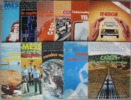 REVUE MESSAGES DES POSTES ET TELECOMMUNICATIONS Année 1979 N° 276 à 284 Et 286-287 Janvier à Septembre Et Novembre, Déce - Magazines
