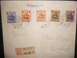 Allemagne Occupation Lettre Recommandee  De Posen 1919 - Occupation 1914-18