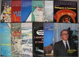 REVUE MESSAGES DES POSTES ET TELECOMMUNICATIONS Ou DES PTT Année 1980 Complète N° 288 à 299 - Magazines