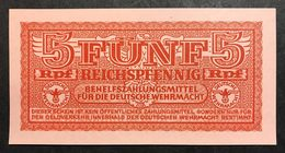 GERMANIA ALEMANIA GERMANY  Wehrmacht  5 Reichspfennig 1942 Wehrmacht Auxiliary Payment Certificate FdsLOTTO 2001 - Unclassified