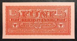 GERMANIA ALEMANIA GERMANY  Wehrmacht  5 Reichspfennig 1942 Wehrmacht Auxiliary Payment Certificate FdsLOTTO 2001 - [ 4] 1933-1945 : Third Reich