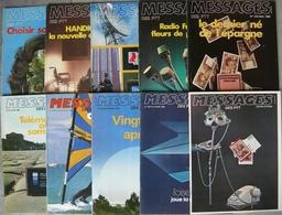 REVUE MESSAGES DES PTT Année 1982 Complète N° 312 à 321 - Magazines