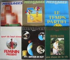 REVUE MESSAGES DES PTT Année 1983 N° 322 à 327 Janvier à Juin - Magazines