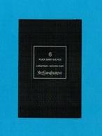 Cartes Parfumées Carte  6 PLACE SAINT SULPICE De YVES SAINT LAURENT LE VESTIAIRE DES PARFUMS - Cartes Parfumées