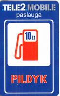 LITHUANIA - Tele 2 Prepaid Card 10Lt, Used - Lithuania