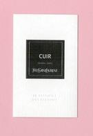 Cartes Parfumées Carte  CUIR  De YVES SAINT LAURENT LE VESTIAIRE DES PARFUMS - Modern (from 1961)