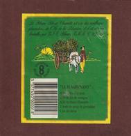 """Etiquette De RHUM - Rhum Blanc CHARRETTE  """"LE FLAMBOYANT"""" - Plantation De L'Ile De La Réunion. - Rhum"""