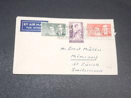 AUSTRALIE - Enveloppe De Sydney Pour La Suisse En 1954 , Affranchissement Plaisant - L 19686 - 1952-65 Elizabeth II : Pre-Decimals