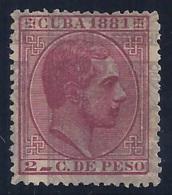 ESPAÑA/CUBA 1881 - Edifil #63 - MLH * - Cuba (1874-1898)