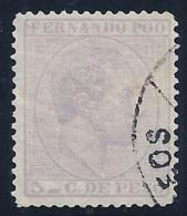 ESPAÑA/FERNANDO POO 1882/69 - Edifil #7 - VFU - Fernando Poo