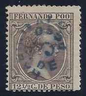 ESPAÑA/FERNANDO POO 1896/900 - Edifil #37hccb - MLH * - Fernando Po