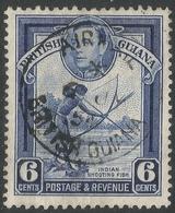 British Guiana. 1938-52 KGVI. 6c Used. P13X14 SG 311a - British Guiana (...-1966)