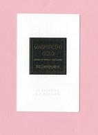 Cartes Parfumées Carte  MAGNIFICENT GOLD   De YVES SAINT LAURENT LE VESTIAIRE DES PARFUMS - Cartes Parfumées