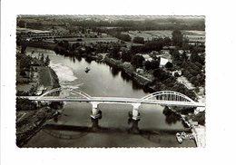 Cpsm SAINTE LIVRADE Vue Aérienne Sur Le Lot Et Le Pont Neuf 18 Cim Combier - France