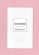 Cartes Parfumées Carte SAHARIENNE   De YVES SAINT LAURENT LE VESTIAIRE DES PARFUMS - Cartes Parfumées