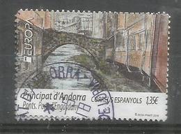 ANDORRA. EUROPA 2018 . Pont D'Engordany. Un Timbre Oblitere, 1 Ere Qualité - French Andorra