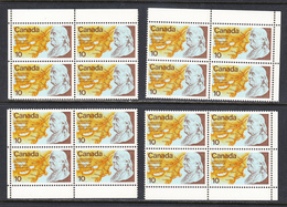Canada 1976 Mint No Hinge, Corner Blocks, Sc# 691 - 1952-.... Règne D'Elizabeth II