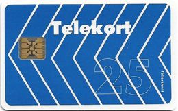 Norway - Telenor - Blue Arrow - N-003B - Chip SC5-Gold - 01.1990, 2.500ex, Used - Norway