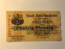 Allemagne Notgeld Nauheim 50 Pfennig - [ 3] 1918-1933 : Weimar Republic