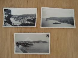 LOT DE 3 PHOTOS BAIE DE VILLEFRANCHE SUR MER 1949 - Lugares