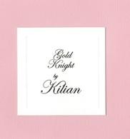 Cartes Parfumées GOLD KNIGHT  BY  KILIAN - Cartes Parfumées