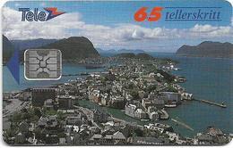 Norway - Telenor - Alesund - N-008f - (00222 - SC4) 01.1992, 4.000ex, Used - Norway
